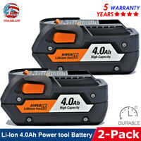2Pack for Ridgid Cordless R840087 R840085 18V Hyper Lithium-Ion Max 4.0A Battery