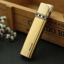 Gold Fashion Cigar Butane Gas Refillable Jet Flame Cigarette Lighter