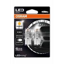 Osram LED Premium W21/5W 580 12V Amber Wedge 7915YE-02B Indicator Lamps x2