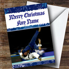 Judo Personalised Christmas Greetings Card