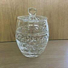 Crystal Glass Barrel Shaped Storage Jar with Lid