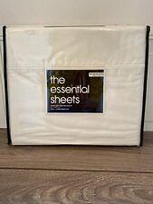 The Essential Sheets 400TC  White 4PC Full Sheet Set NIP