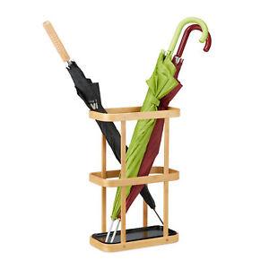 Schirmständer Bambus Schirmhalter Holzständer Regenschirmhalter Stockhalter rund