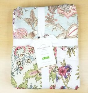 Pottery Barn HARLOWE PATCHWORK Euro Sham Floral Quilted NEW