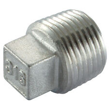 "3/4"" BSP Square Head Plug 316 Stainless Steel 150LB Pipe Fitting"