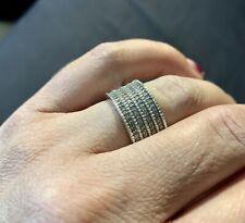 Amanda Wakeley Ernest Jones 1/2ct Silver Band Ring