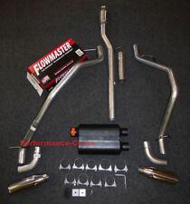 14-18 Chevrolet Silverado GMC Sierra Dual Exhaust Kit w/ Flowmaster Super 40