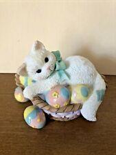 "2000 Enesco Calico Kittens ""Easter Fills Us Up With Joy"" Priscilla Hillman Figur"