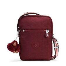 Kipling ESSYLA Small Across Body/Shoulder/Messenger Bag - BURNT CARMINE M RP£39