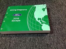 2016 Ford Escape Electrical Wiring Diagram Troubleshooting Manual EWD Factory
