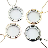 New Floating Charm Living Memory Glass Round Locket Charms Pendant NecklacewDAD