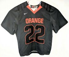 Nike College Game Football Jersey Mens Large Orange 22 Short Sleeve Green NCAA