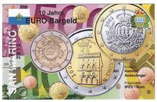 Infokarte San Marino 2012 10 Jahre Euro Bargeld