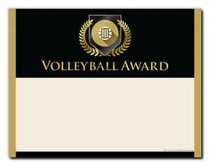 Volleyball Sports Award - Gold Shield - Cool School Studios - Package of 25