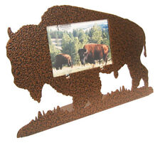 Buffalo / Bison 3x5H copper vein metal full body picture frame