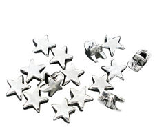 ❤ 50 x Antique Silver PLAIN STAR Spacer Beads 6mm Jewellery Findings UK Stock ❤