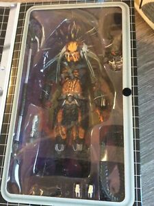 NECA Predator Clan Leader Deluxe Predator Leader With Bendable Tentacles Figure