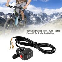 36v Twist Throttle Thumb Control Assembly For E-bike Electric Bike