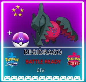 Pokemon Sword & Shield REGIDRAGO! 6IV! BRAND NEW! CROWN TUNDRA DLC