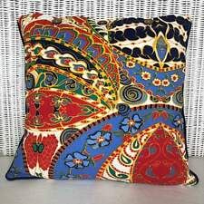 Cushion Cover Multi Colour Abstract Retro Style Red Blue Green Navy Teal Scatter