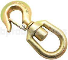 2 Ton Swivel Hook Drop Forged Carbon Steel Swivel Eye Hook w/ Latch G70 Grade