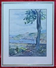 Dipinto acquerello - Trieste Servola - firmato - metà '900