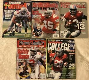 Street & Smith's College Football OHIO STATE Buckeyes Lot of 5 CLARETT Vrabel