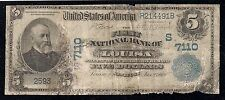 Louisa, Kentucky, Charter #7110, Series1902, $5.00 Plain Back, 15 Notes Reported