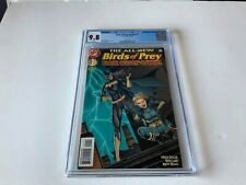 BIRDS OF PREY BATGIRL 1 CGC 9.8 WHITE PAGES BLACK CANARY DC COMICS 1998