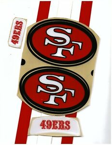 TB 49ers Football Helmet Decals Free Shipping 89-95