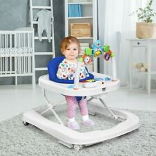 Activity Baby Walker Blue 2-in-1 Foldable Baby Walker with Adjustable Heights