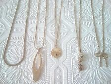 Gold tone necklaces and bow ring, sand dollar, rhinestones, chain  FREE SHIPPING