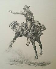 Ernest Franklin Original Graphite Pencil Drawing Native Navajo Artist HS