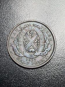 1837 Canada Sous half penny Token coin High Grade coin halfpenny