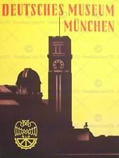 Voyage musée allemand munich munchen fine art print poster CC1960