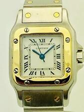 Estate ~ CARTIER Santos Automatic SS & 18k Gold  Ladies Watch ~ Freshly Serviced