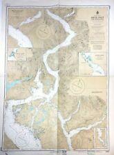 Vtg JERVIS INLET Sunshine Coast SECHELT Nautical CHART VANCOUVER BC Canada MAP