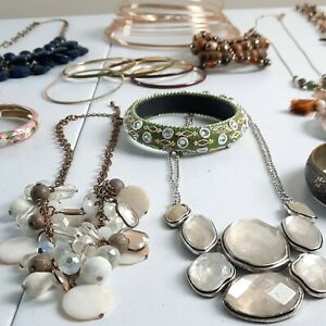 Crafted Crystal Necklaces Bracelets and Fashion Jewelry Lot Estate Designer 2lbs