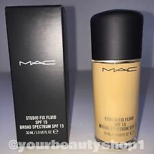 New Mac Foundation Studio Fix Fluid Foundation  SPF 15 NC37 100% Authentic
