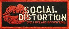 "Social Distortion Aufbügler/Embroidery patch # 8 ""Sex Love & Rock 'n' roll"""