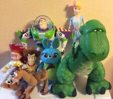 """Disney Toy Story Lot Of 7 Jessie,woody,bullseye,talking Buzz,barbie,dino 7""""-14"""""""