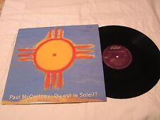 """Paul McCartney 12""""  Single with Original Cover-QU EST LE SOLEILx3"""