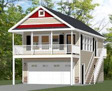 20x32 House - Pdf Floor Plan - 808 sq ft - Model 6M