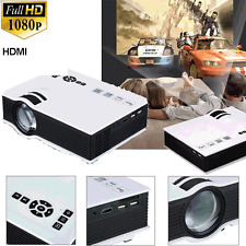 Full HD 1080P 2000lumens LED Mini Home Multimedia Projector HDMI VGA USB SD Play