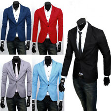 Stylish Men's Casual Slim Fit One Button Suit Blazer Coat Jacket Casual Tops 3XL