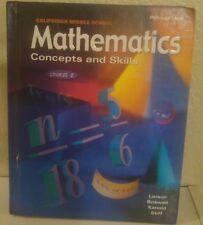 Mcdougal Littell Mathematics 7th Grade 7 Concepts Skills Course 2 Homeschool GD