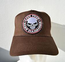 Trucker Cap, gorra, hardcore, marrón, Live Free, Biker, auto, muscle car, v8, Harley