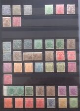 India 1911 - 32 Collection Of  Mint George  Heads On Page. All Lightly Hinged.