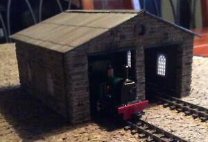 Scratch built 009 narrow gauge two road engine shed