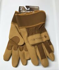 Carhartt Mens Gloves Size Large Work And Garden Heavy Duty Leather Utility A518